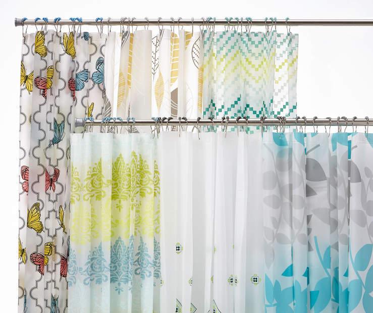 Big Lots Bathroom Decor: Living Colors Eco-Friendly Shower Curtains