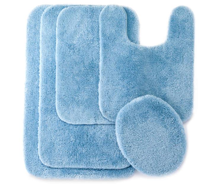 Big Lots Bathroom Decor: Living Colors Sky Blue Bath Rugs