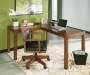 Lobink L-Shape Brown Desk lifestyle