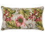 Lorelei Red and Tan Floral Outdoor Lumbar Throw Pillow 12 inches by 20 inches Silo Front View