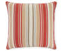 Lorelei Red and Tan Floral and Stripe Reversible Outdoor Throw Pillow 20 inches by 20 inches Silo Image Alternate Side