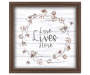 Love Lives Here Framed Wall Plaque silo front
