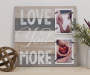 Love You More Wood Panel 2 Opening Picture Frame lifestyle