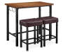 Luke Industrial 3 Piece Pub Table Set with Hooks silo front