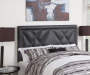 Lummus Steel Gray X Pattern King Headboard bedroom setting