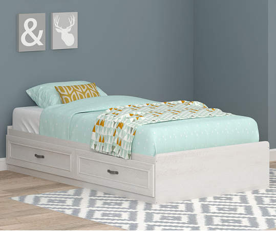 Ameriwood Magnolia Oak White Twin Mates, How Much Is A Twin Bed Frame