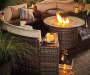 MANHATTAN 42 IN ROUND FIRE PIT TABLE