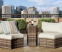 MANHATTAN ALL WEATHER WICKER SIDE TABLE