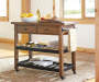 MARLIJO BROWN/BLACK KITCHEN CART