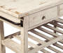 MARLIJO WHITE KITCHEN CART
