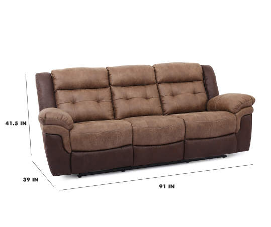 Mesa Brown Faux Leather Motion Reclining Sofa Big Lots
