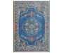 Macy Blue Area Rug 5 Feet 3 Inches by 7 Feet 6 Inches Overhead View Silo Image
