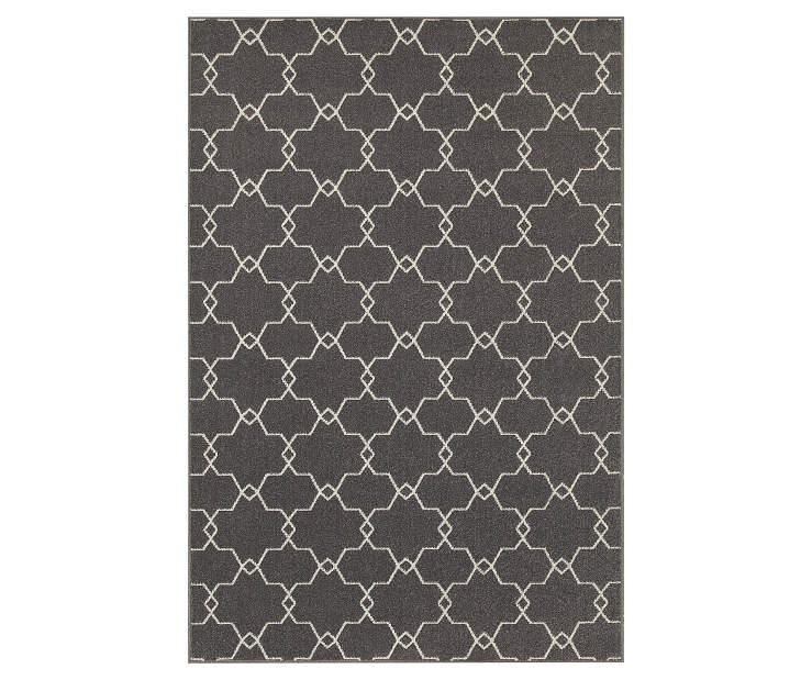 Maddox Gray Area Rug 3 Feet 3 Inches by 5 Feet Overhead View Silo Image