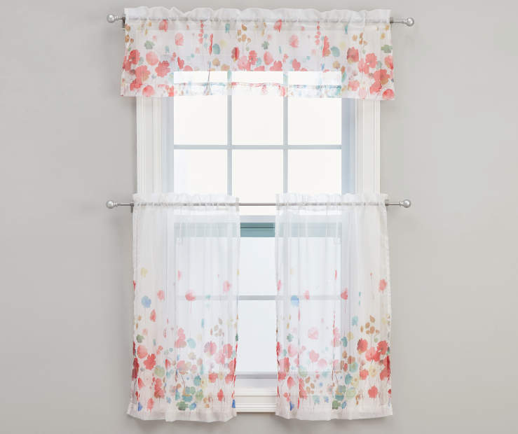 Maggie Tier and Valance Set  3-Piece On Window