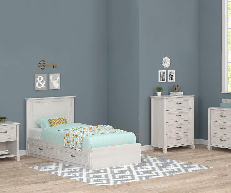magnolia white oak twin mates bedroom collection big lots 14552 | product chain