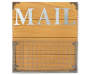 Mail Galvanized Rustic Wood Wall File Pocket Silo Image Showing Front