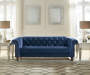 Malchin Navy Blue Tufted Chesterfield Loveseat lifestyle