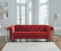 Malchin Red Tufted Chesterfield Loveseat lifestyle