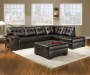 Manhattan Left Arm Facing Sofa Sectional 1 of 2 pieces lifestyle living room