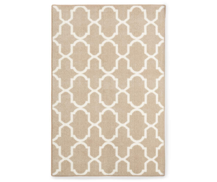 Maples Collection Beige Tile Accent Rug 30 by 46 inches Silo