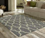 Maples Collection Gray Tile Area Rug, (7' x 10')