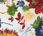 Margaux Blue and Red Floral Outdoor Lumbar Throw Pillow 12 inches by 20 inches Swatch