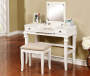 Marta White Mirror Vanity Set with Stool silo lifestyle