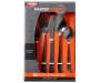 Matte Black 20 Piece Flatware Set silo front package