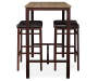 Max Brown and Blonde 3 Piece Pub Table Set silo front