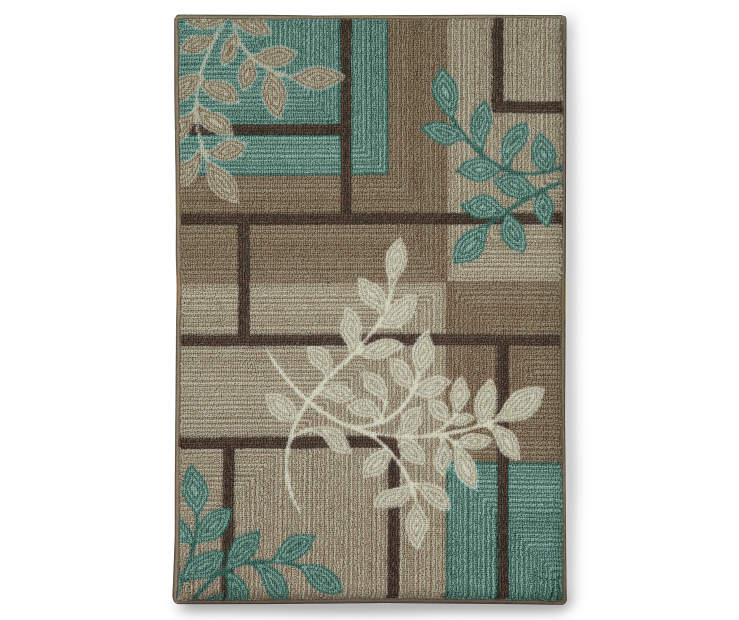 Maxine Accent Rug 1 Foot 8 Inches by 2 Feet 10 Inches Overhead Shot Silo Image