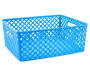 Medium Cabana Blue Deco Basket silo front