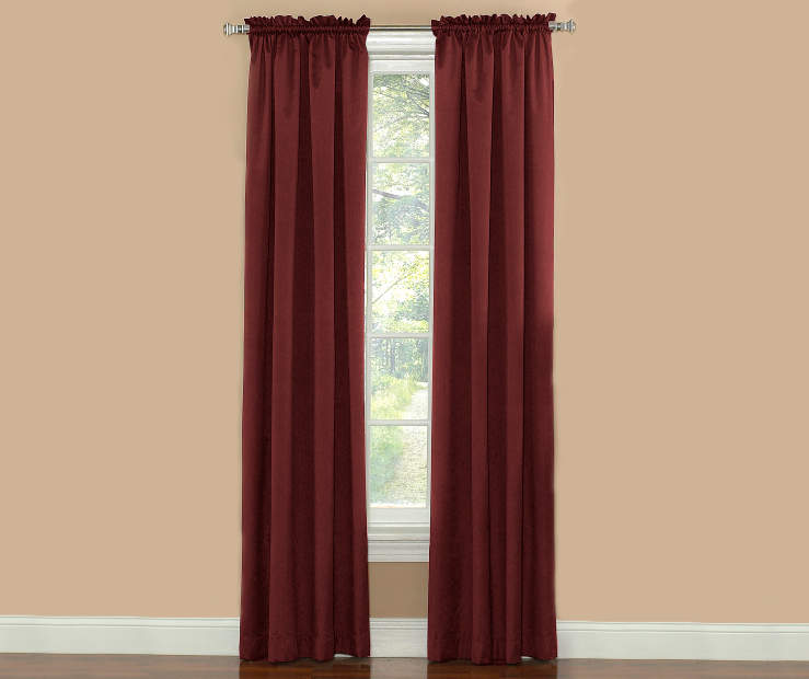 Merlot Thermal Panel PAir 84 Inches on Window Room View
