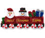 Merry Christmas Express Tinsel Train Wall Decor silo front