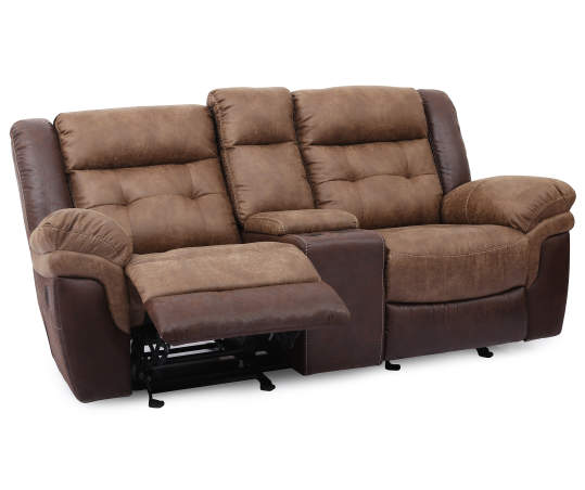 Mesa Brown Motion Console Loveseat Big Lots