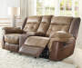 Mesa Brown Motion Console Loveseat