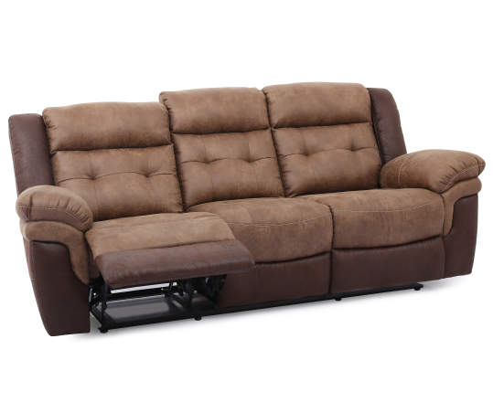 Faux Leather Motion Reclining Sofa