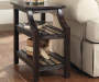 Mestler Brown Slat End Table lifestyle