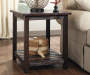 Mestler Rustic End Table lifestyle living room