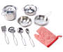 Metal Cookware 10 Piece Play Set silo front
