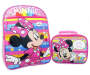 Minnie Mouse Backpack and Lunch Bag displayed side by side front view silo image