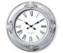 Mirella Gray Wall Clock 22 point 5in silo front view