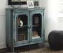 Mirimyn Teal Accent Cabinet lifestyle