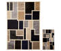 Mixed Geometric Accent and Area 2 Piece Rug Set silo front