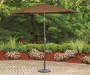 Mocha Brown Market Patio Umbrella 9ft lifestyle