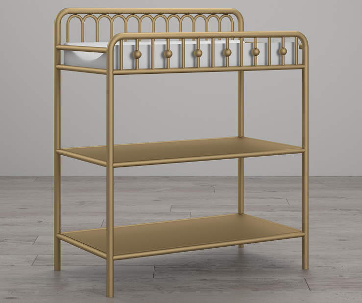 Monarch Hill Ivy Gold Metal Changing Table lifestyle