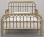 Monarch Hill Ivy Gold Metal Toddler Bed lifestyle