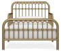 Monarch Hill Ivy Gold Metal Toddler Bed silo front