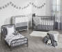 Monarch Hill Ivy Gray Metal Toddler Bed lifestyle