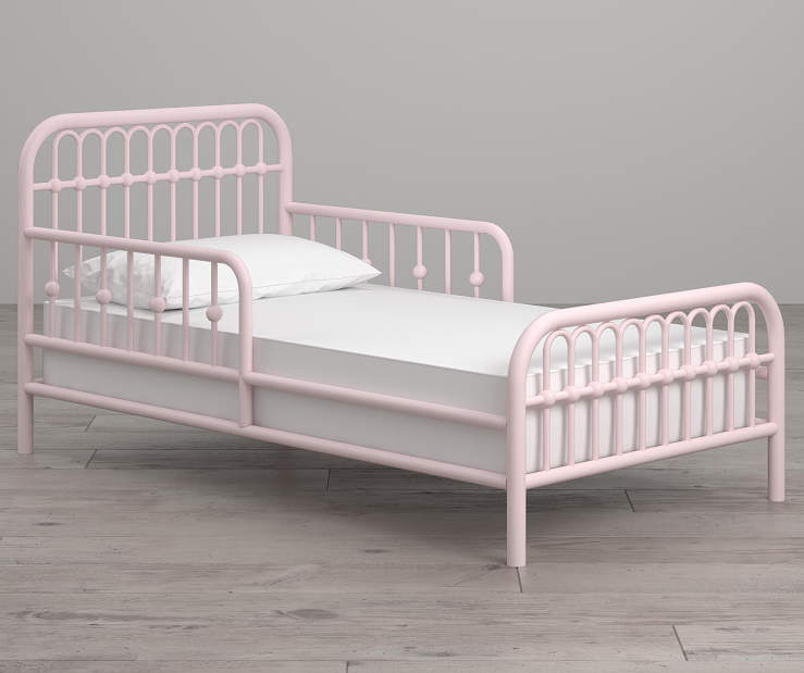 Monarch Hill Ivy Pink Metal Toddler Bed lifestyle