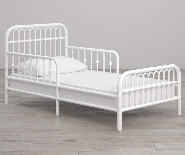 Monarch Hill Ivy White Metal Toddler Bed lifestyle